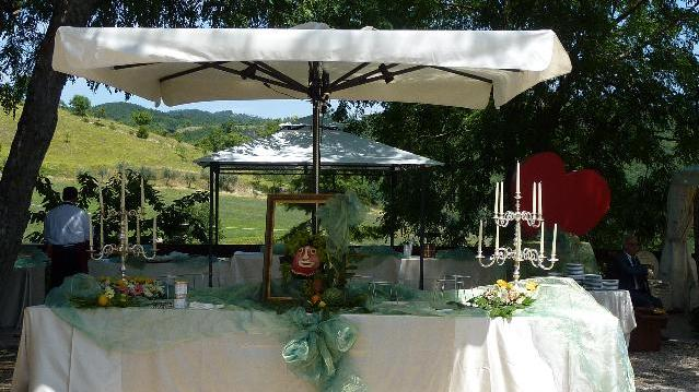 Cerimonie Assisi - Banchetto all'aperto